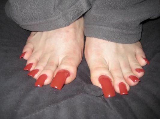 Long Nails Nails And Pink Acrylic Long Toenails Red Toenails Feet Nails