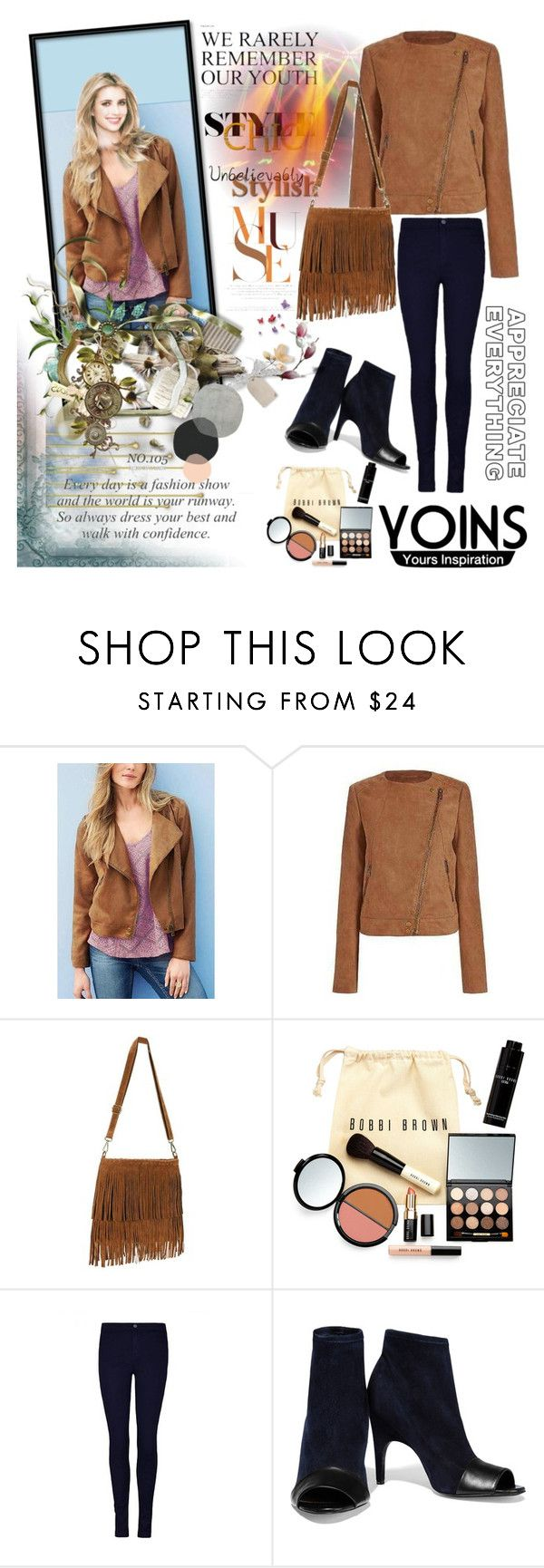 """""""Yoins jacket"""" by irinavsl ❤ liked on Polyvore featuring Bobbi Brown Cosmetics, Acne Studios and yoins"""