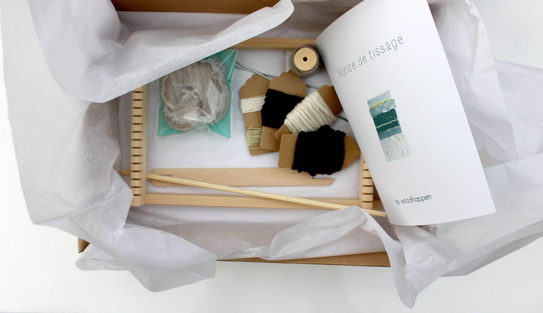 Weaving Kit beginner by woodhappen (model in white and Golden tones) (40.00 EUR) by woodhappen