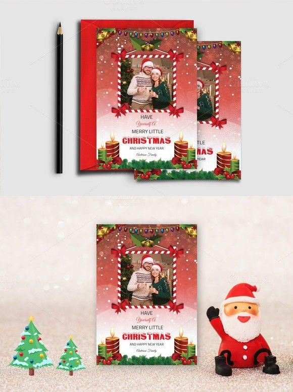Christmas Card Template-V447 Creative Card Templates $600