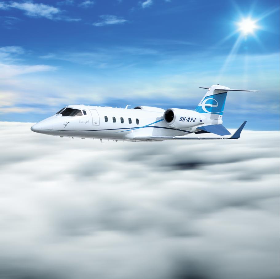 Eurojet Livery Learjet 60 City Car Aviation Passenger