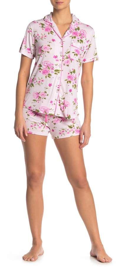 Couture PJ Floral Print Pajama 2-Piece Set ,