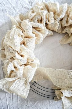 Photo of NEW AND SIMPLE BURLAP WREATH DIY – StoneGable
