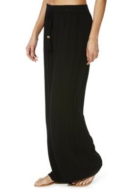 5cc4b46b46 Buy F&F Crinkle Wide Leg Beach Trousers from our Women's Beachwear range -  Tesco