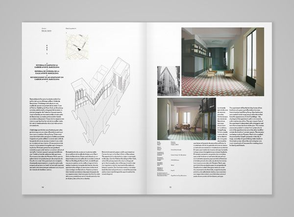 magspreads editorial design and magazine layout inspiration quaderns architecture magazine in architecture print