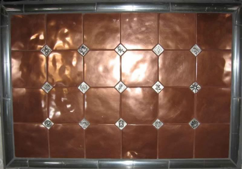 Paintable Wallpaper as a Backsplash | If you integrate the copper ...