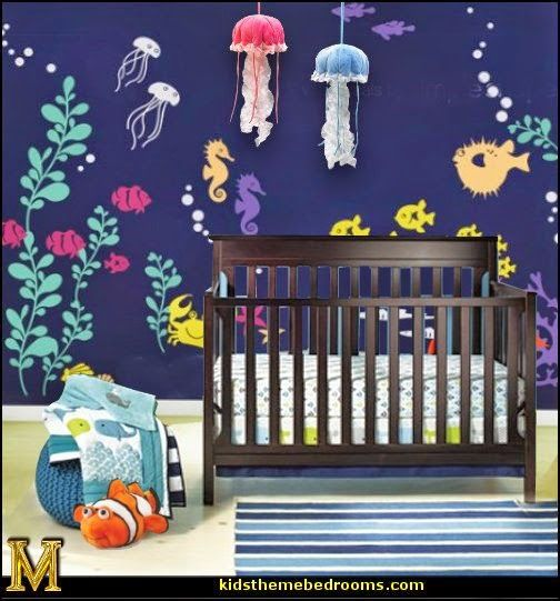 Under The Sea Baby Theme Bedroom Ideas-decorating Baby Nursery Ocean Sea Life Theme Under The Sea Baby Bedroom Decorat… | Baby Room Themes, Sea Nursery, Baby Themes