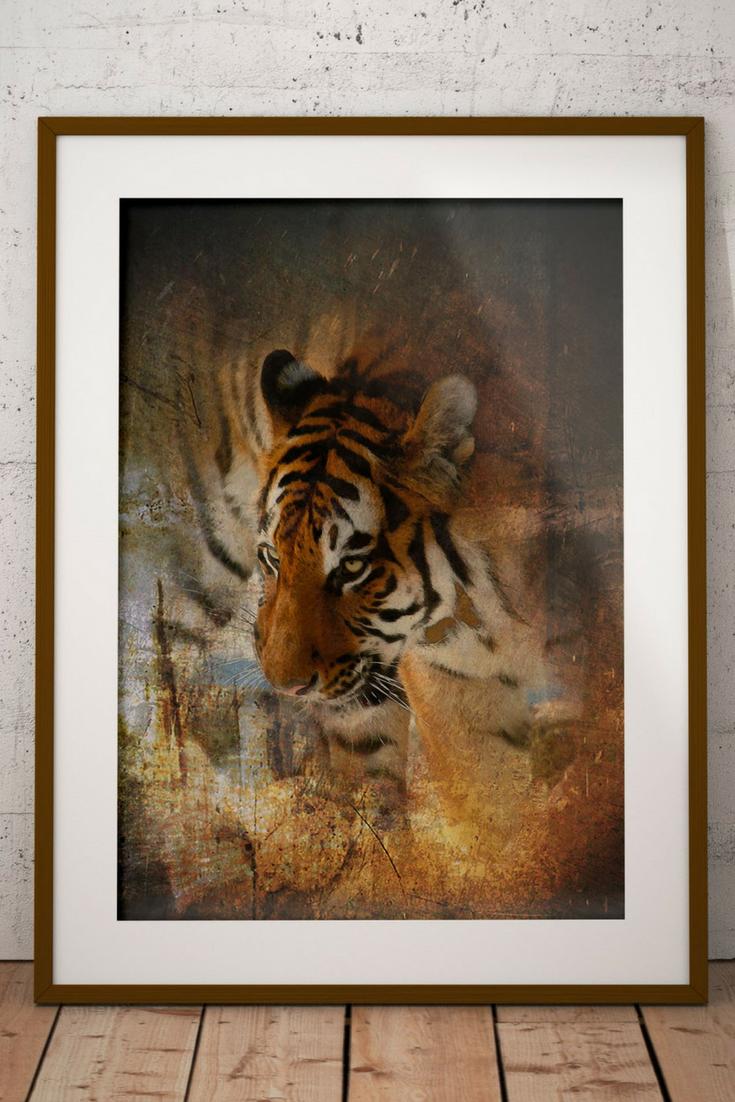 Tiger Painting Print, Direct Download, Printable Tiger Wall Art ...