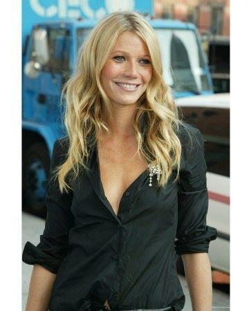 Sun kissed face, perfect hair and shirt, gwyneth