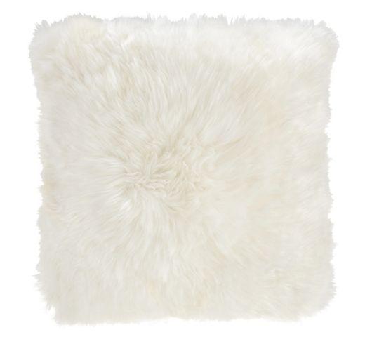 Kuschelig weiches Fellkissen in Weiß - ideal für gemütliche Stunden