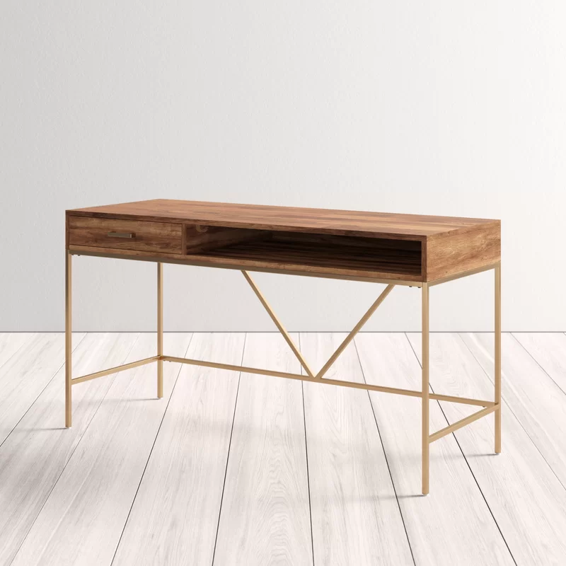 Mario Desk In 2020 Solid Wood Desk Natural Wood Desk Wood Desk