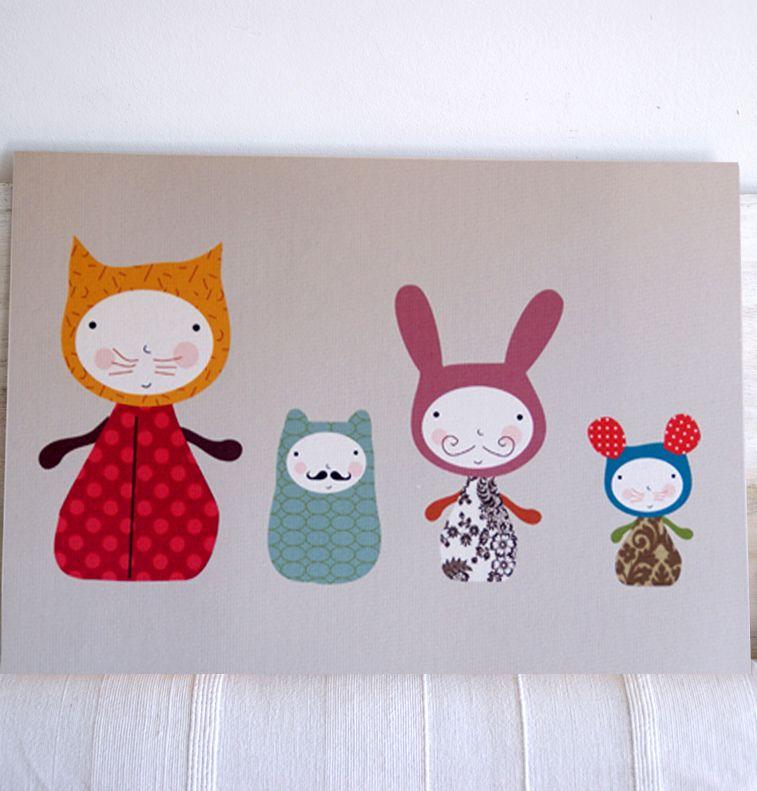Liven Your Walls Paintings Tierra Este: Kids Wall Art, Prints And Murals-Cuadros Infantiles
