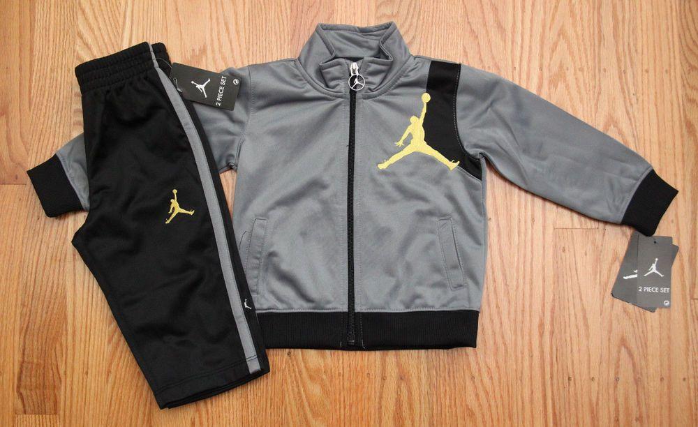 f8fa9f32bc28 Air Jordan Baby Boy Jogging Set ~ Tracksuit ~ Gray