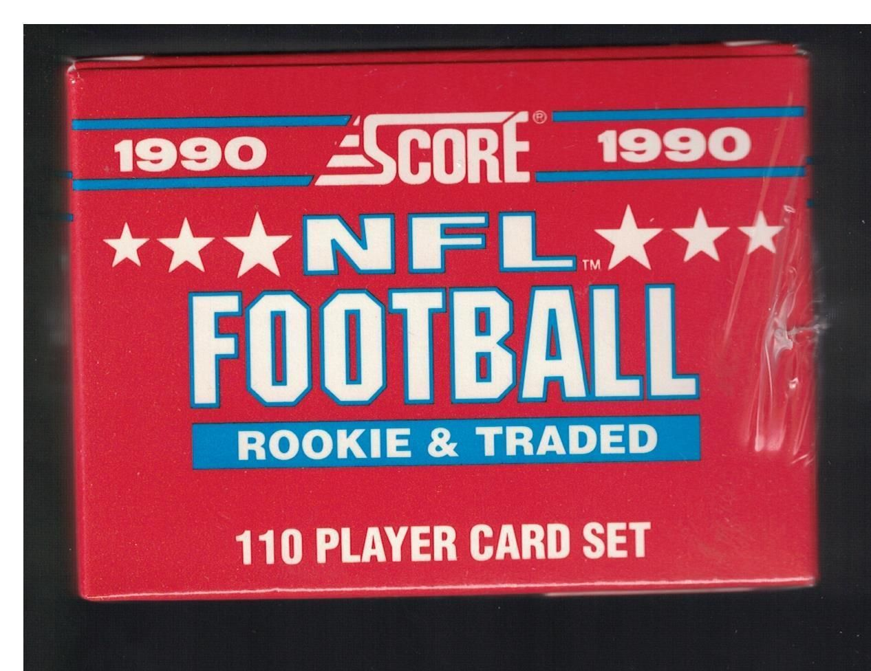 1990 score rookie traded nfl footbal factory set with