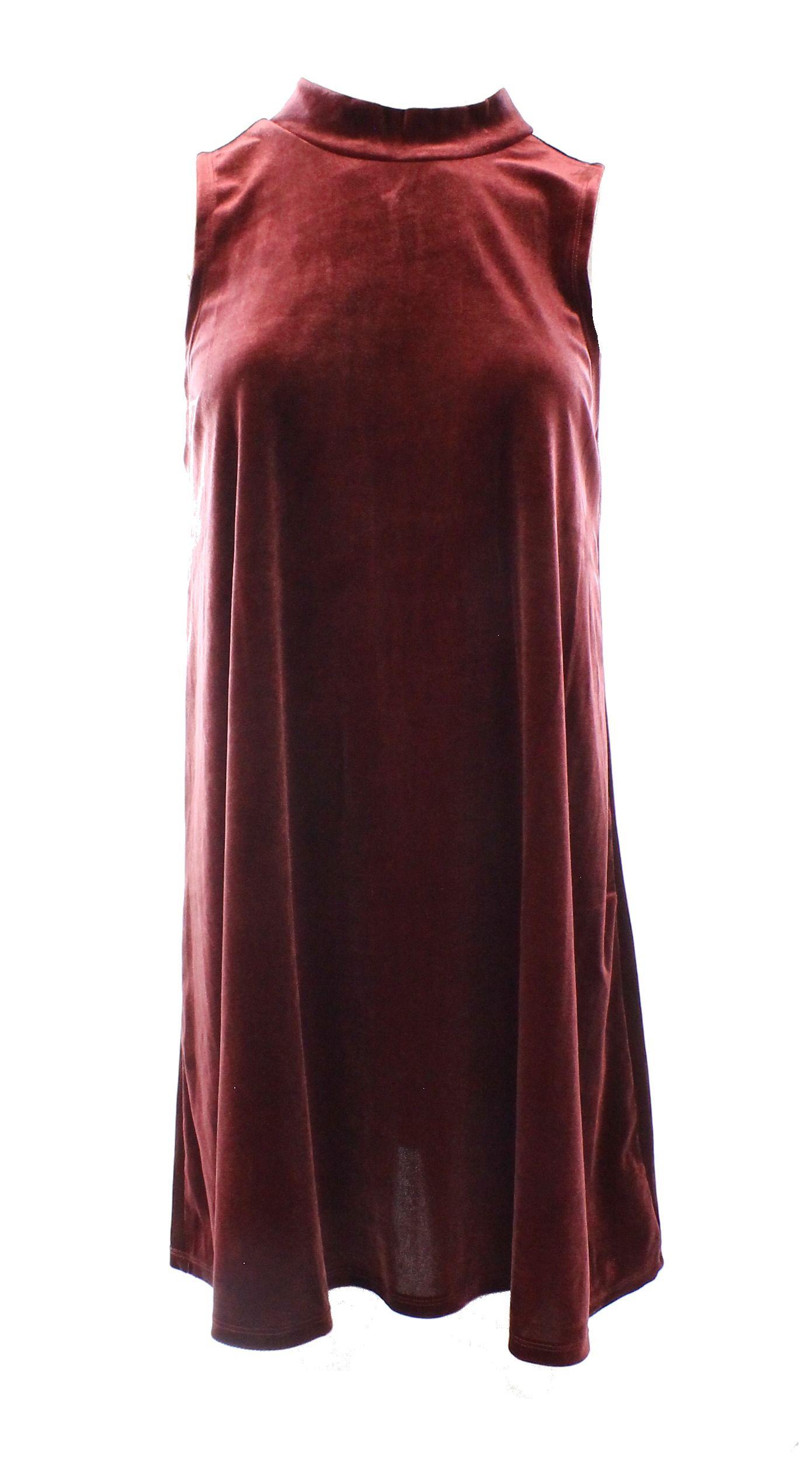 One Clothing NEW Red Burgundy Women's Large L Junior Velour Shift ...