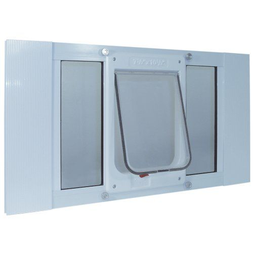 129 95 139 99 Specially Designed For Sash Windows And Comes With A Spring Loaded Locking Slide And Clear Viny Cat Door For Window Cat Door Pet Door