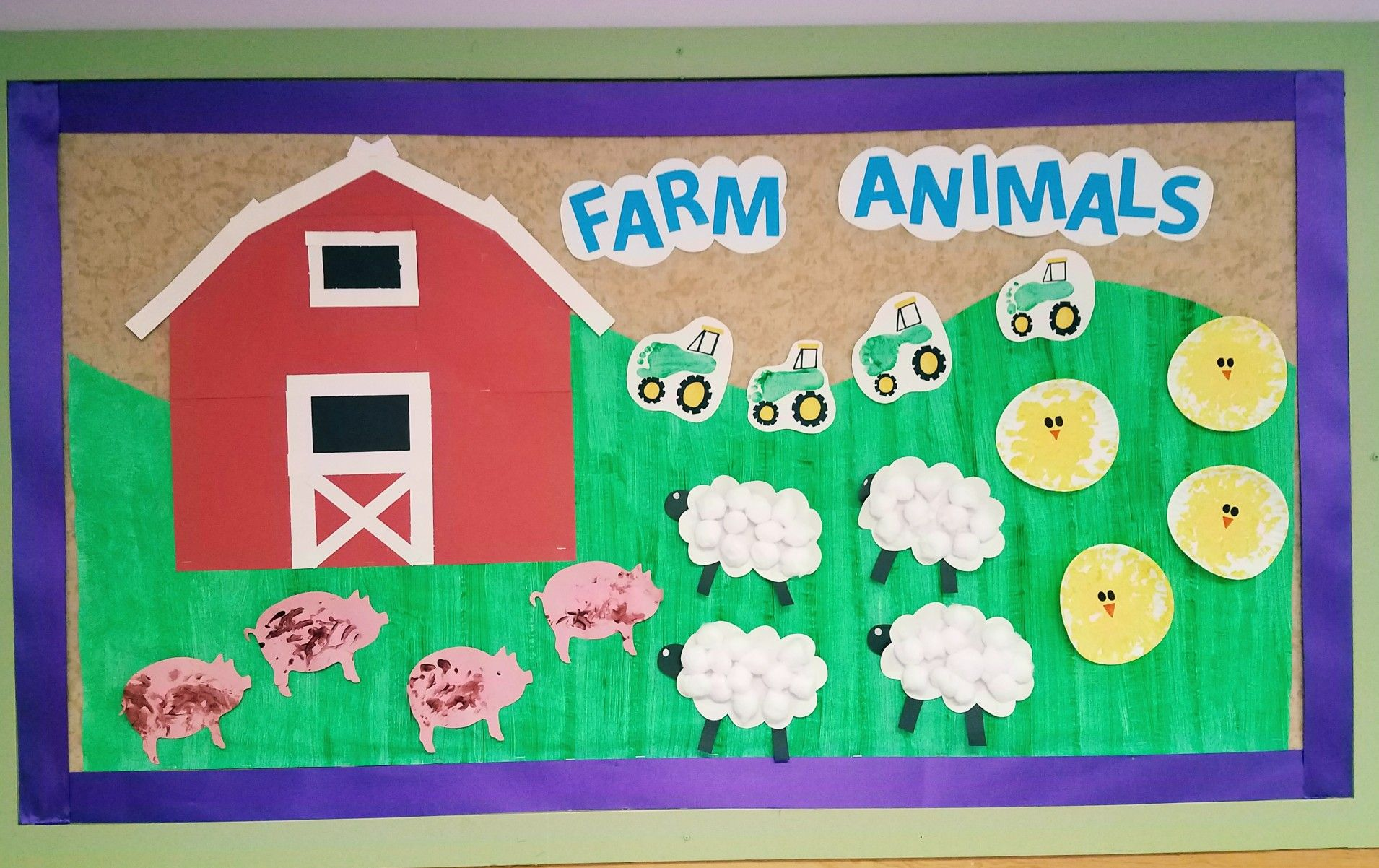 Farm Animal Bulletin Board Amazing Animals Unit Infant Classroom