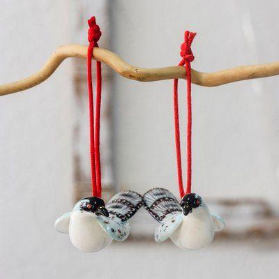 NOVICA Bird Habitat Jewelry Tree