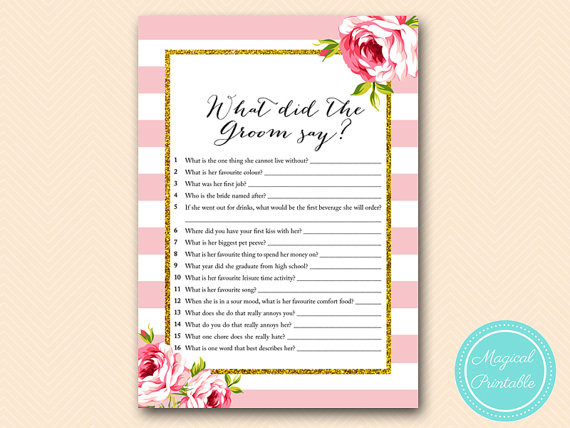 What Did The Groom Say He About By Magicalprintable