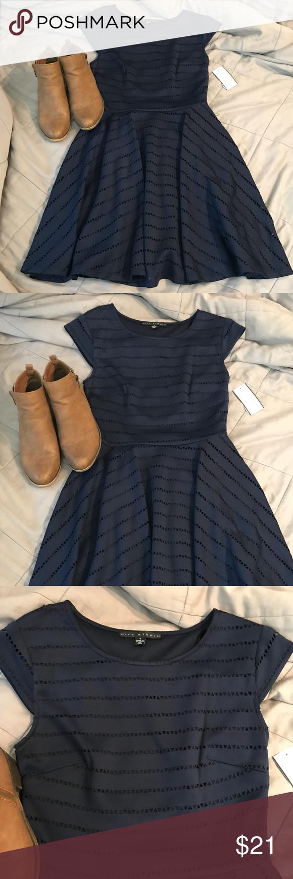 661d70e93a6 💙 Navy Blue Dress 💙 Brand new from Macy s! Never been worn. City ...