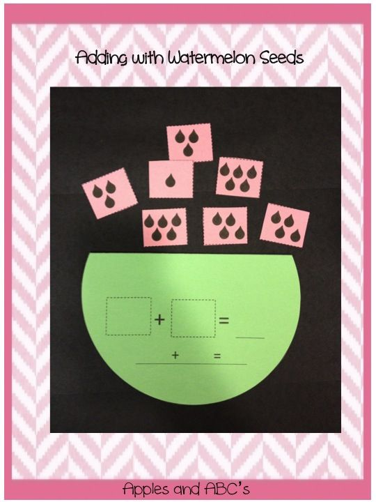 Watermelon math craft
