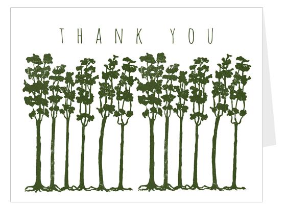 Cartão de Agradecimento - Árvores