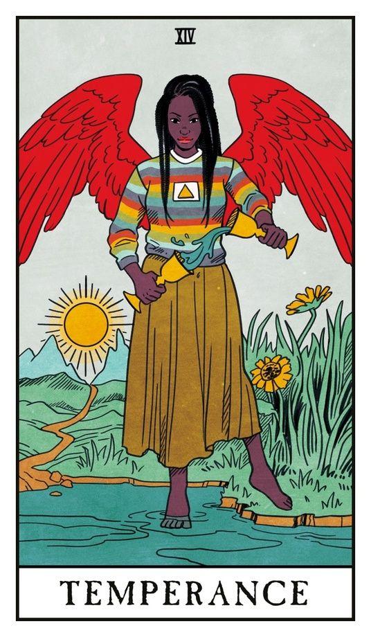 Temperance - Modern Witch Tarot, an art print by Lisa Sterle #modernwitch