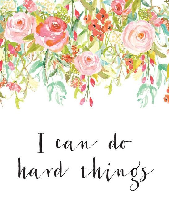 Floral Positive Motivational Quotes: This Cute Wall Decor Is Perfect For The Office.