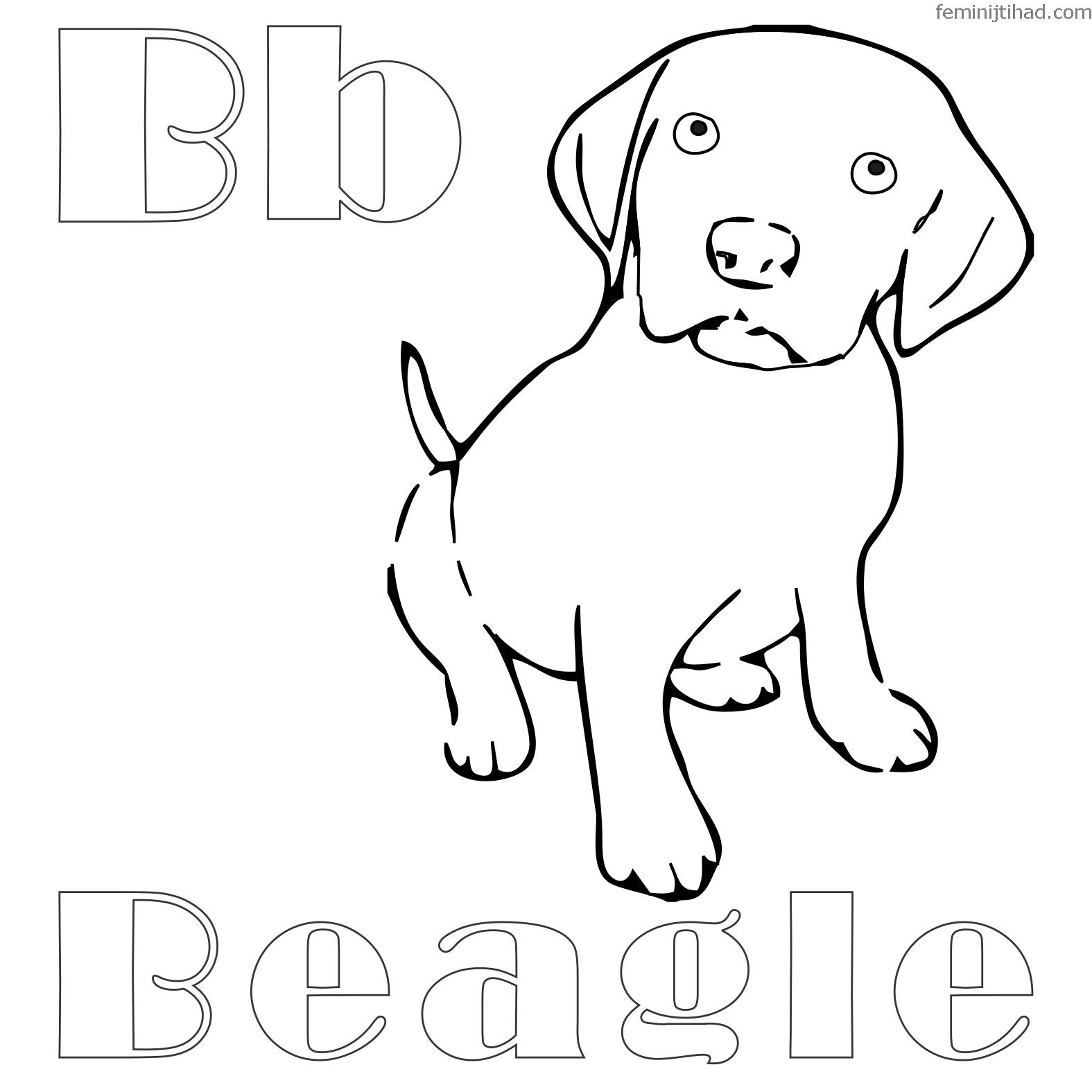 Collection Of Beagle Coloring Pages Printable | Puppy ...