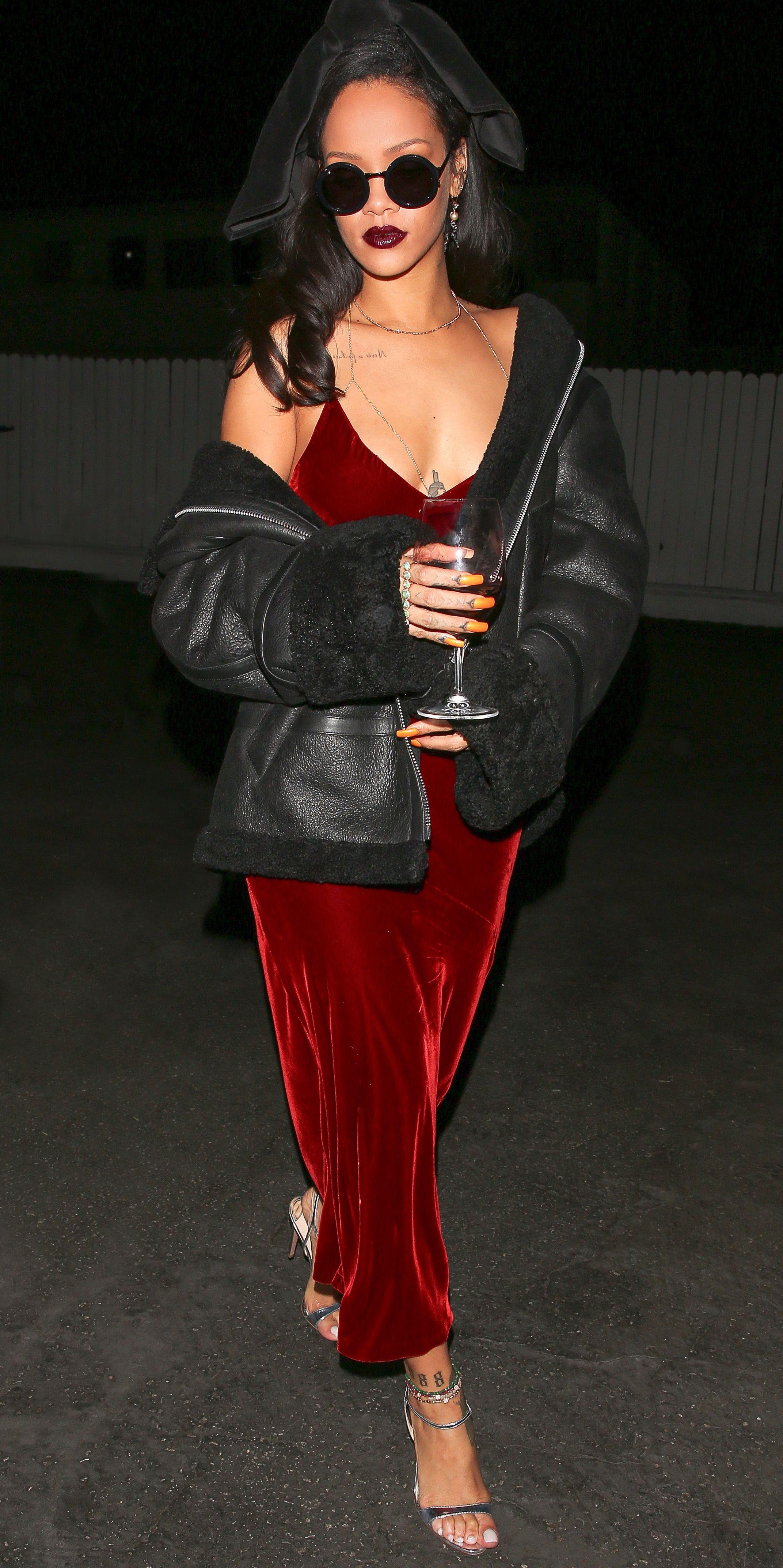 e74dfc00ef5e How to Wear a Slip Dress Like Rihanna