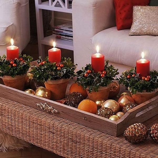 Image result for christmas home decor with candles hd images