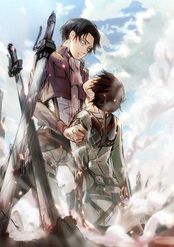 Levi Rivaille Shingeki No Kyojin Fan Art Levi And Eren Attack On Titan Fanart Attack On Titan Anime Attack On Titan Art