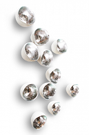 Pura Vida Home Decor - Wall Play Seed Silver (set of 10), $75.00 (http://stores.puravidahomedecor.com/wall-play-seed-silver-set-of-10/)