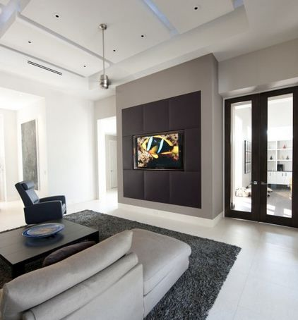15 Ways To Disguise A Tv Media Room Design Contemporary Family Rooms Room Design