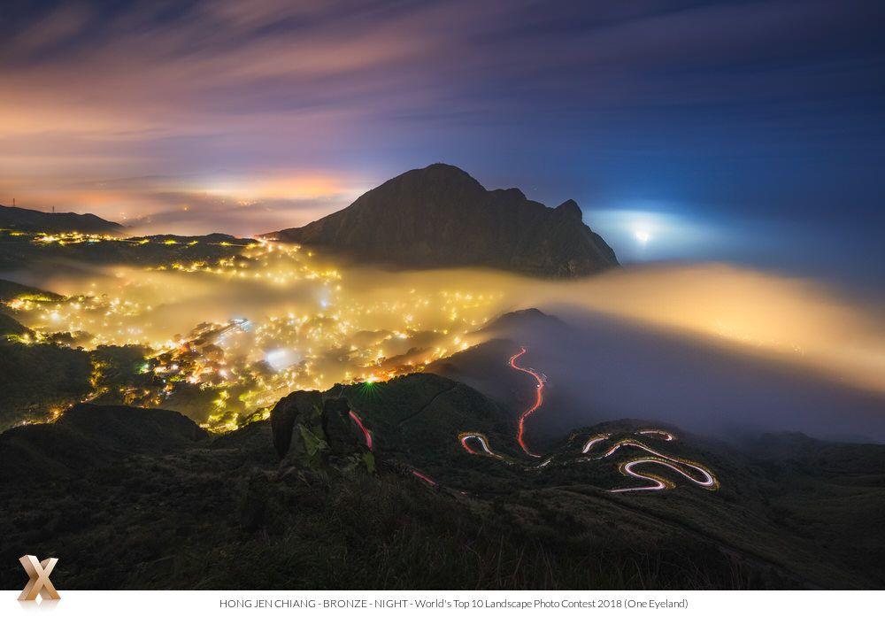 Hong Jen Chiang Golden Mountain City Landscape Night Bronze World S Top 10 Landscape Photo Contest 2018 Photo Contest Landscape Photos City Landscape