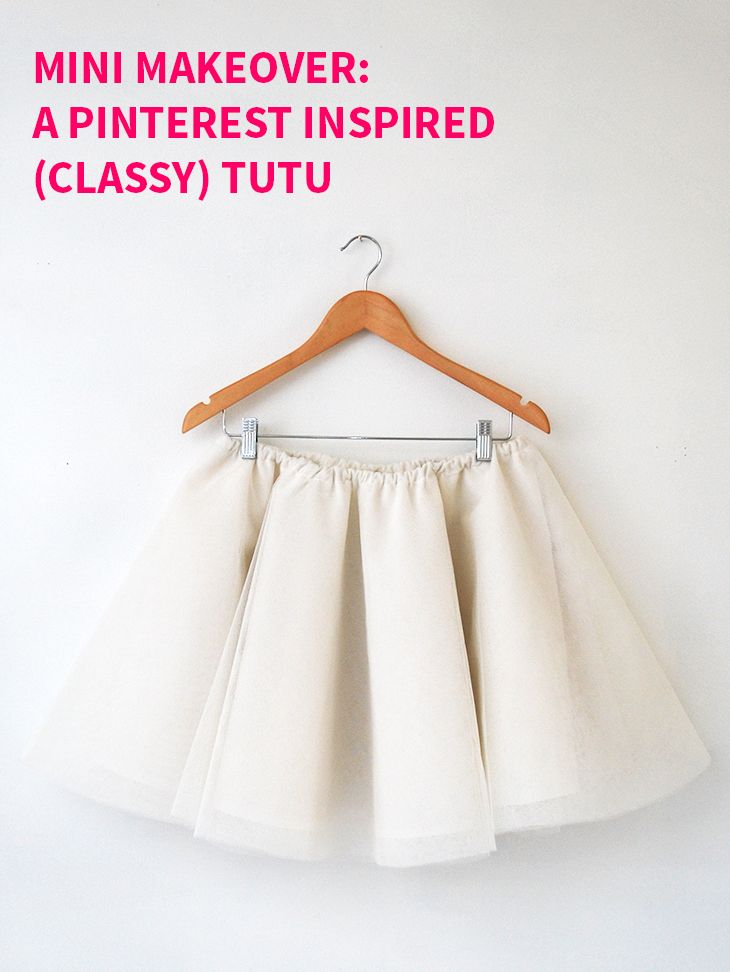 Mini Makeover: A Pinterest Inspired (Classy) Tutu on Style for a Happy Home // Click for DIY