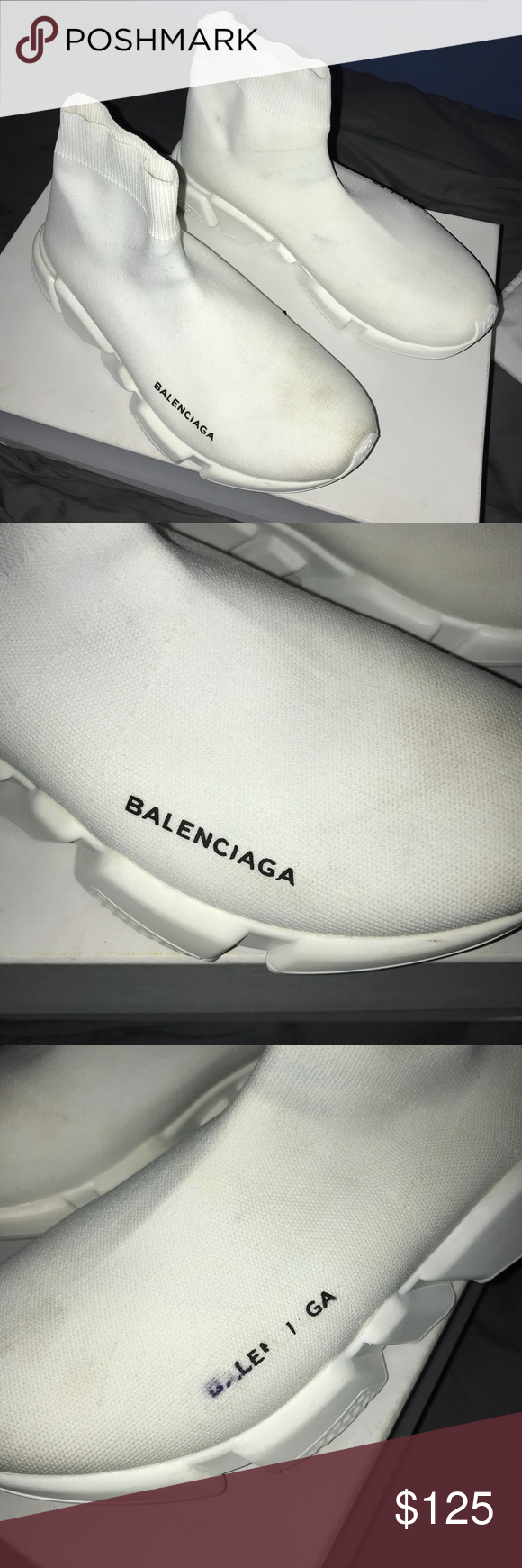 Balenciaga Speed Sock Runner damaged