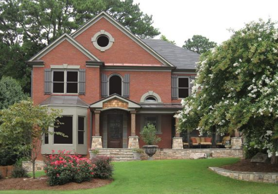 Best Red Brick Grey Roof Exterior Contemporary Red Brick 400 x 300