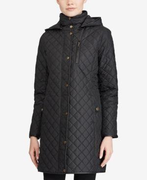 Lauren Ralph Lauren Quilted Hooded Jacket Black M Quilted Jacket Jackets Coats For Women