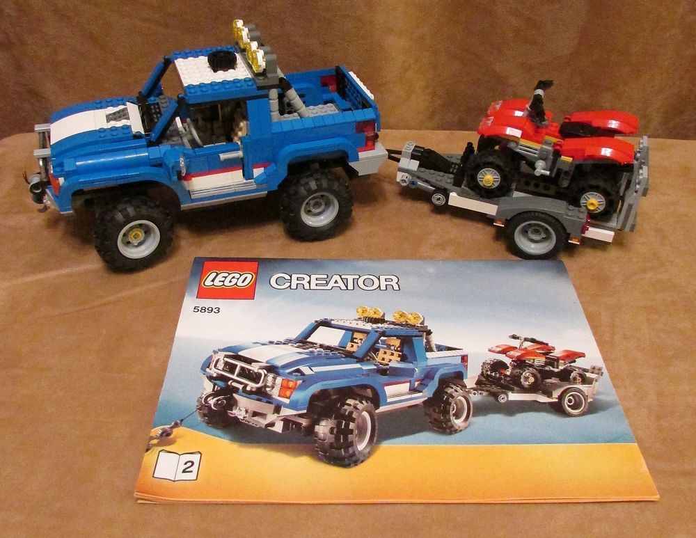 5893 Lego Creator Off Road Power Complete Instructions 3 In 1 Truck