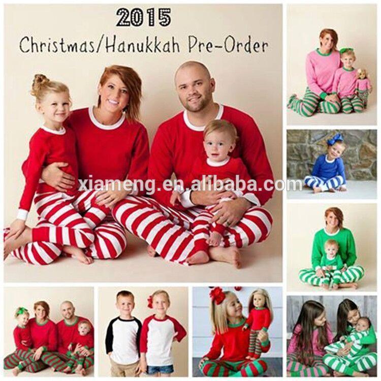wholesale matching family pajamas kids christmas pajamas family christmas striped pajamas - Wholesale Christmas Pajamas