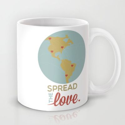 spread the LOVE Mug by studiomarshallarts - $15.00