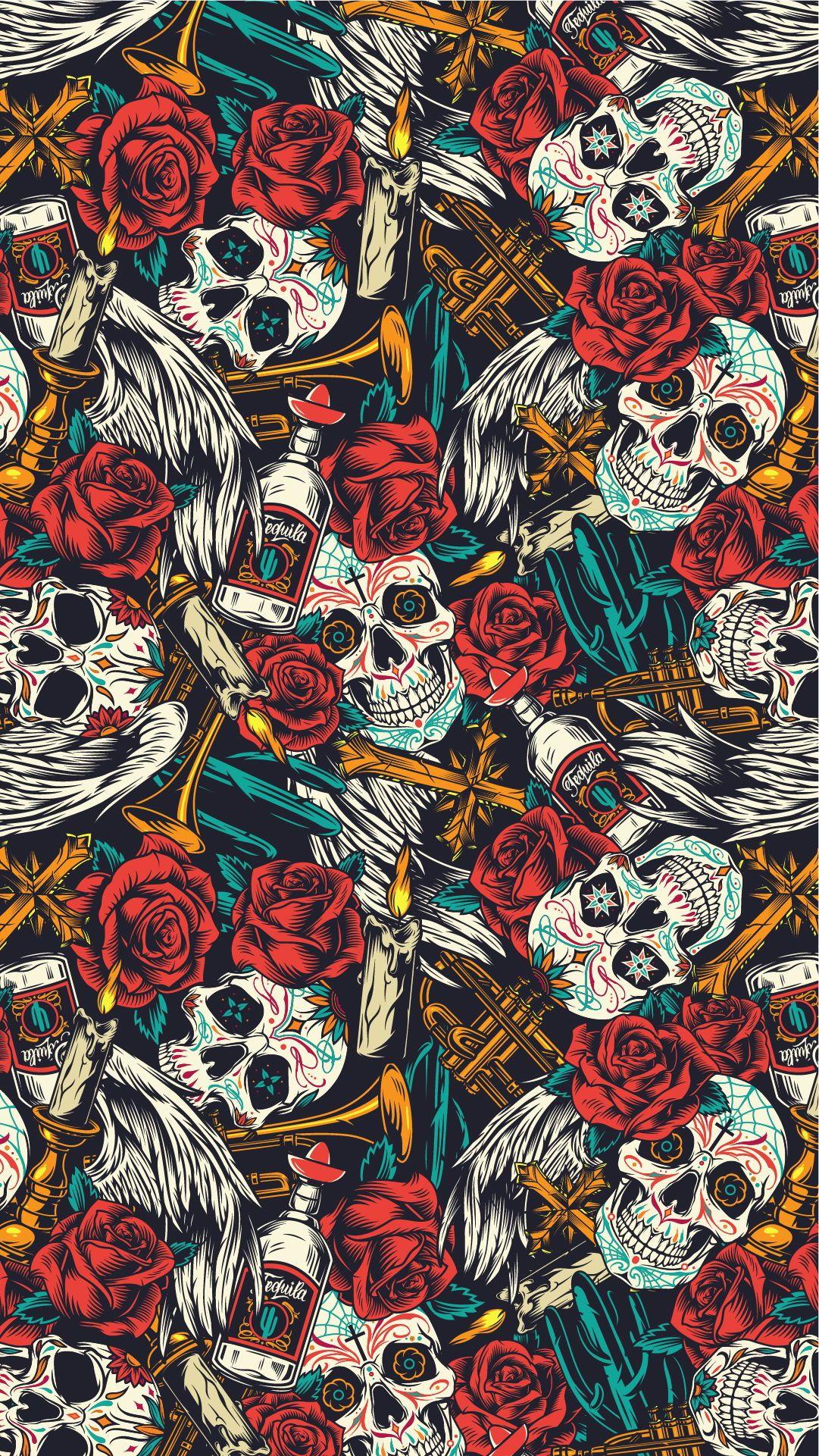 "20 ""Day Of The Dead"" Apparel designs in 2020 Skull"