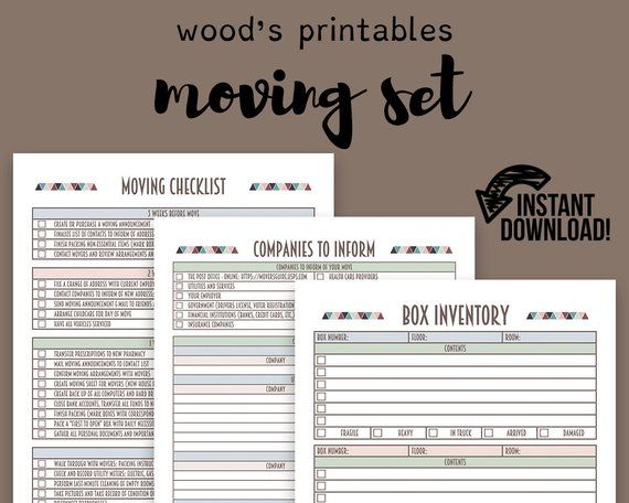 moving planner set moving checklist moving away new home planner