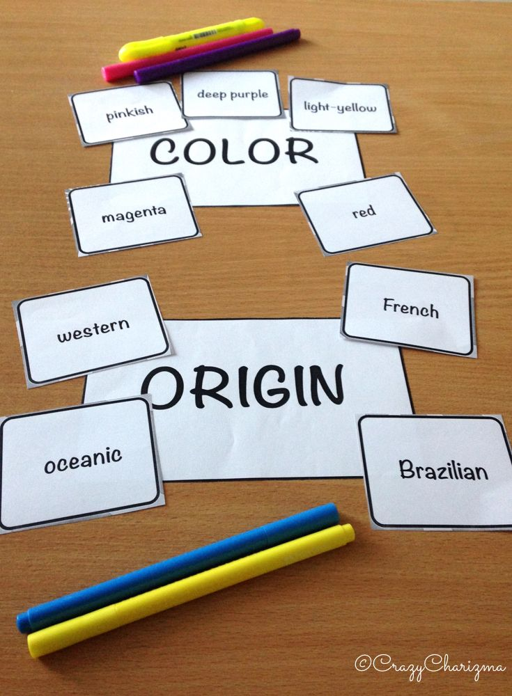 Adjective order activities. The packet consists of 170 cards to practice Order of Adjectives. It can be used with ESL / EFL students. It can also be used with grades 4-6 during ELA lessons (L.4.1.d). $