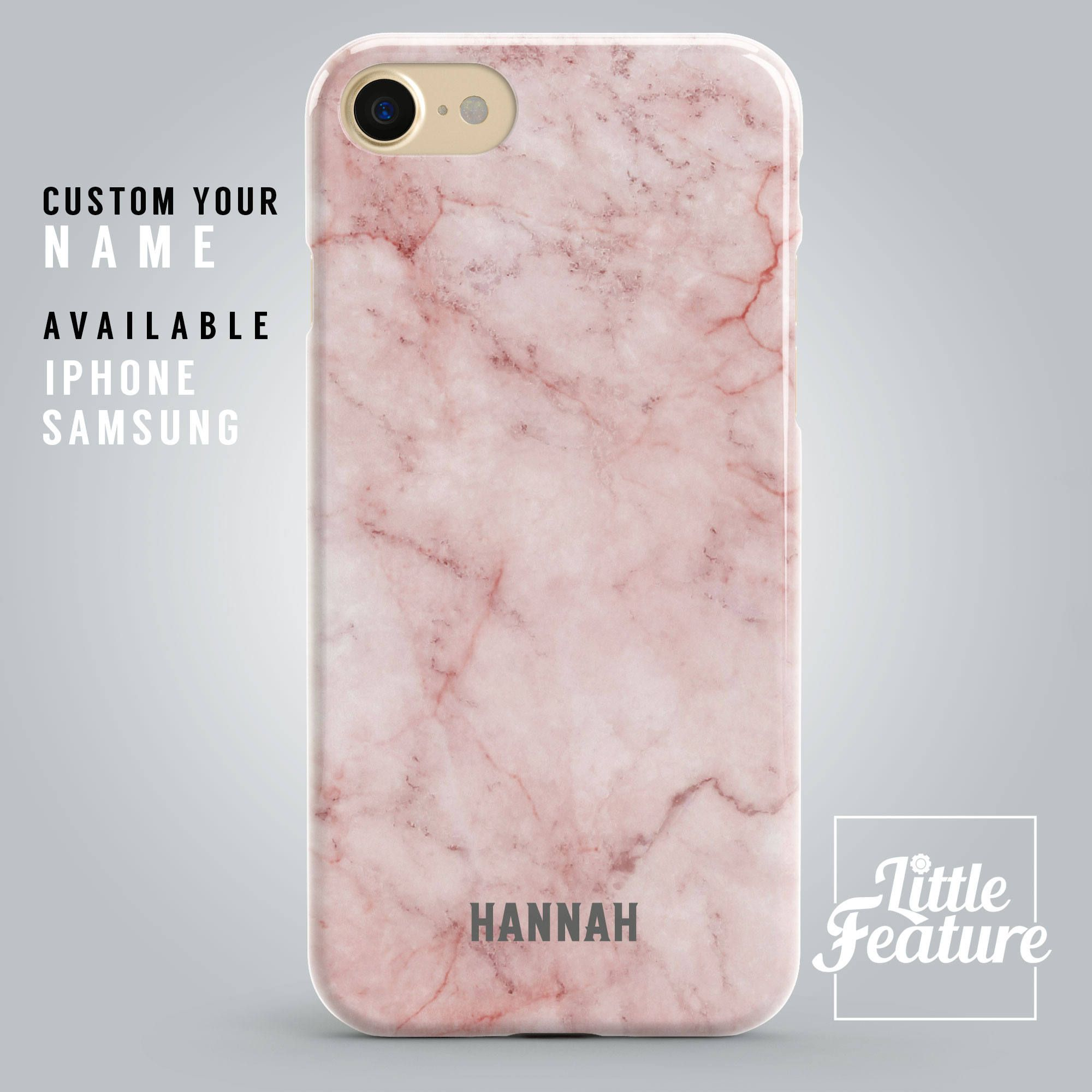 marble iphone 7 plus case initials