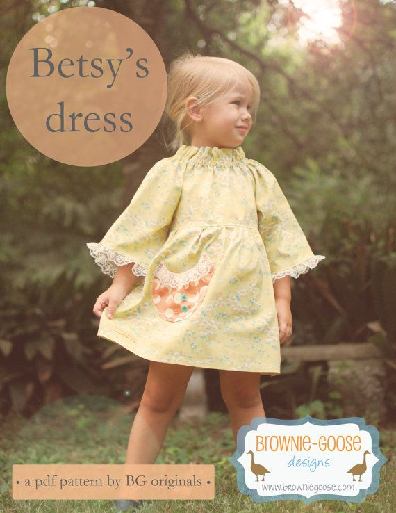 BG Originals Betsy\'s Dress pdf pattern by browniegoose on Etsy ...