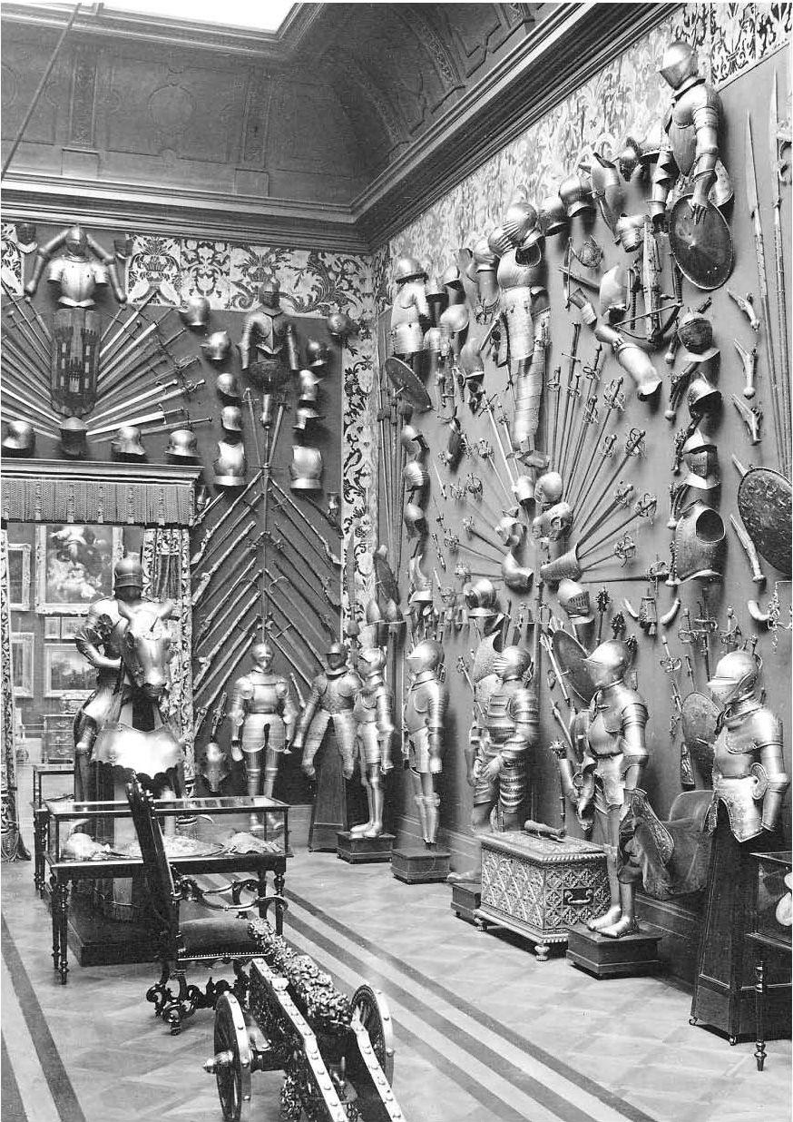 European Armoury Room at Hertford House (1890s) London