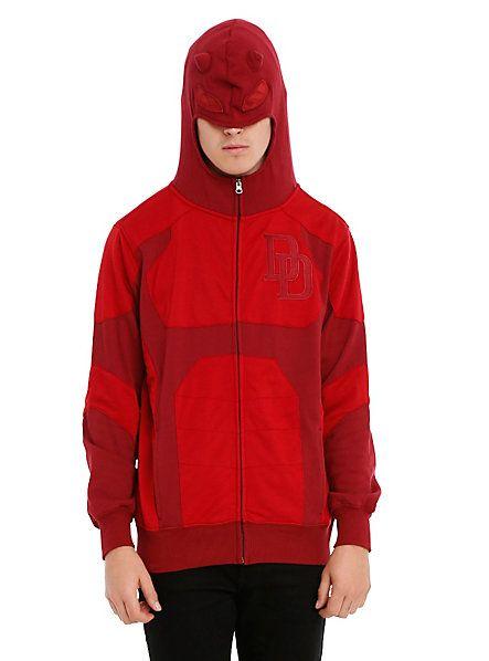 Marvel Daredevil Costume Zip Hoodie Hot Topic Men S Jackets