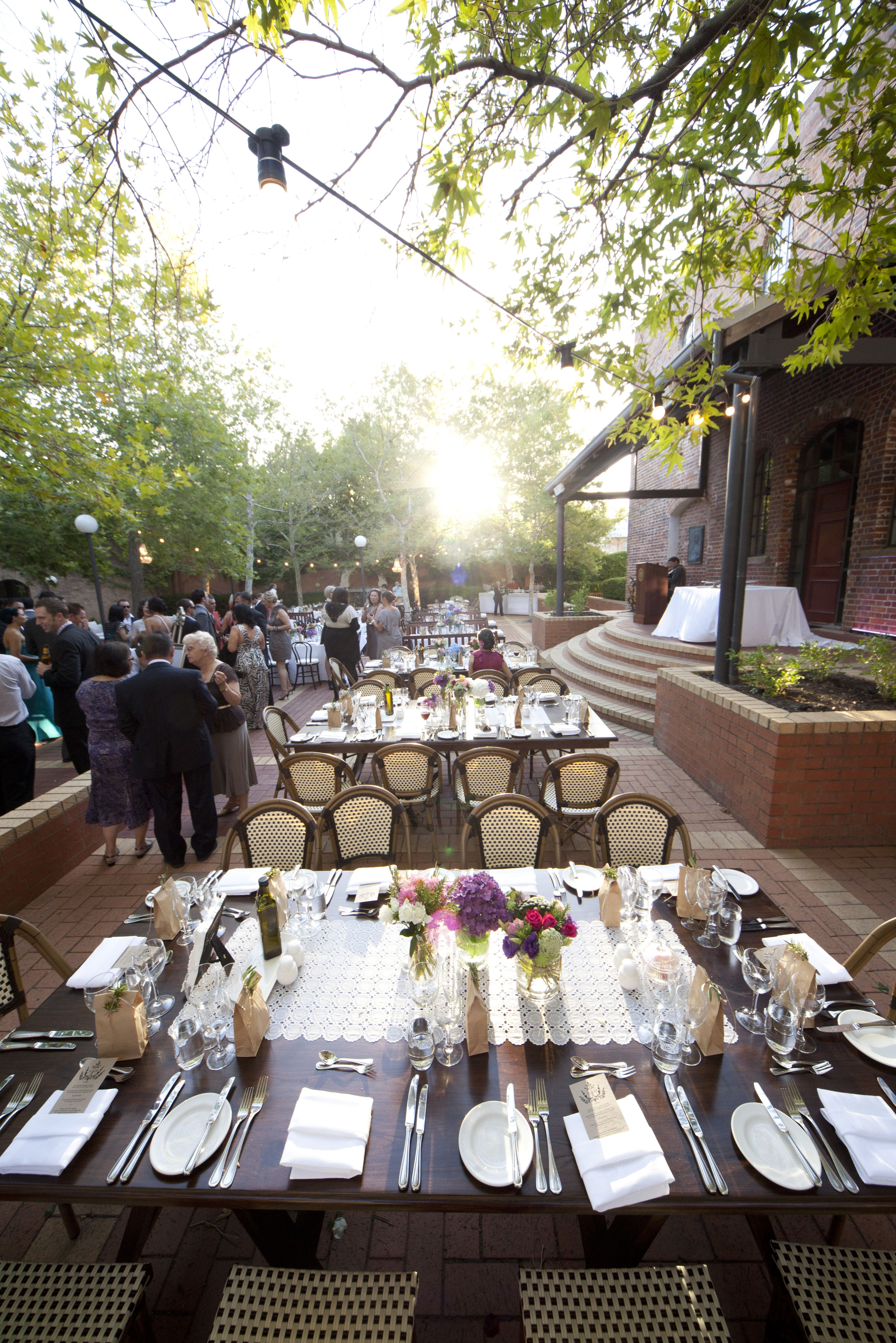 Garden Party Wedding At Notre Dame University Fremantle Villakula